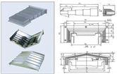 专业维修 免费测量机床钣金防护罩 伸缩式钢板防护罩