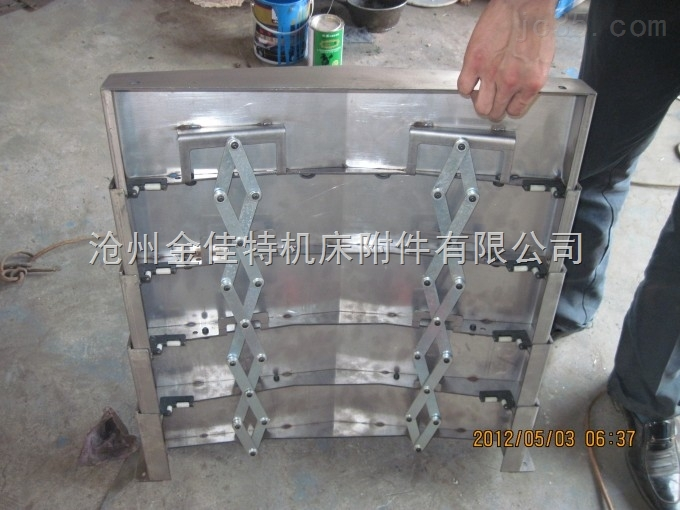 供应机床导轨伸缩防尘罩,钢板式耐磨导轨防尘套