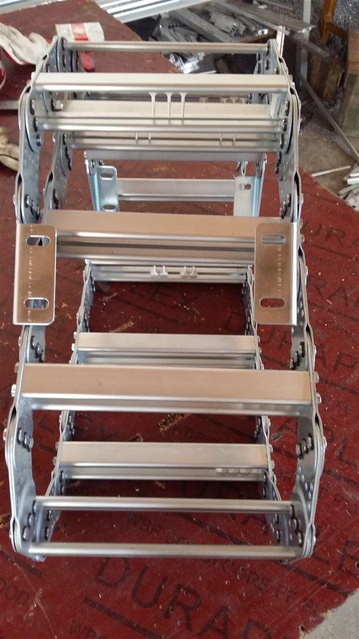 特种机床护线钢制拖链、电缆穿线拖链
