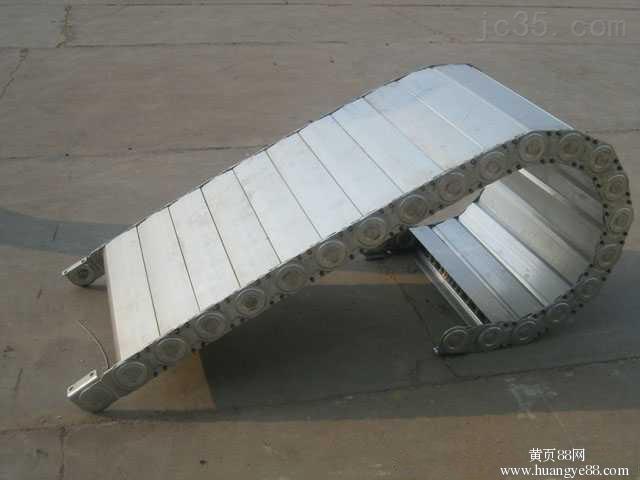 常州机床专用载重能源电缆穿线钢铝拖链 整体式消音钢铝拖链(坚固耐用)