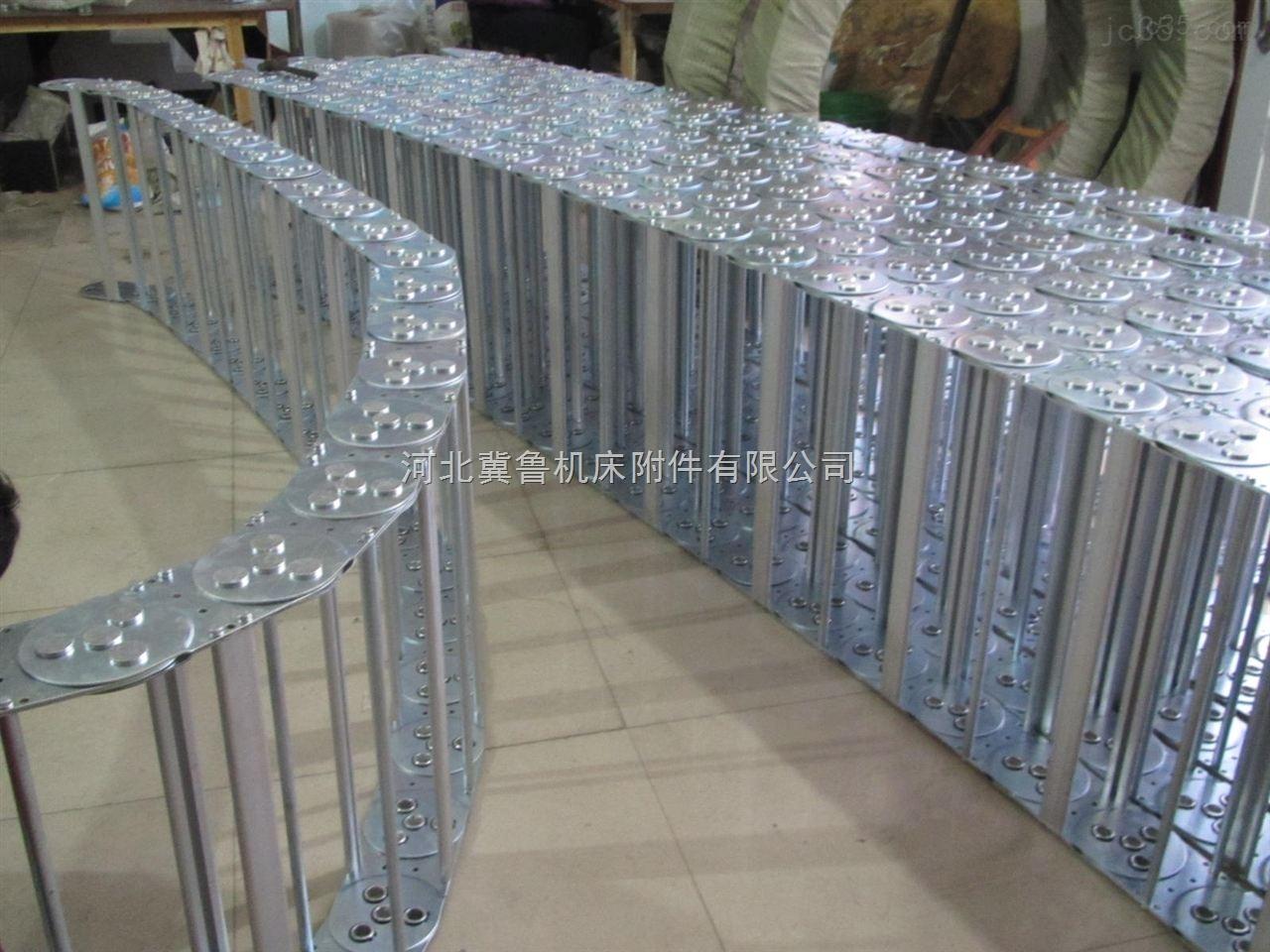 高质量防倒塌式穿线钢铝拖链