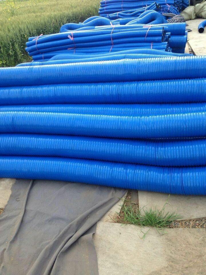 蓝色塑筋吸尘管