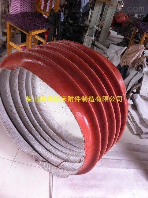 红色硅胶布耐温风机软连接