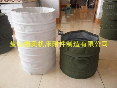 绿帆布吊环式水泥伸缩布袋