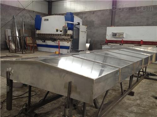济南雕刻机专用导轨式钢板防护罩