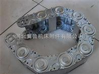 工业设备专用加固承重耐酸碱防护型钢铝拖链