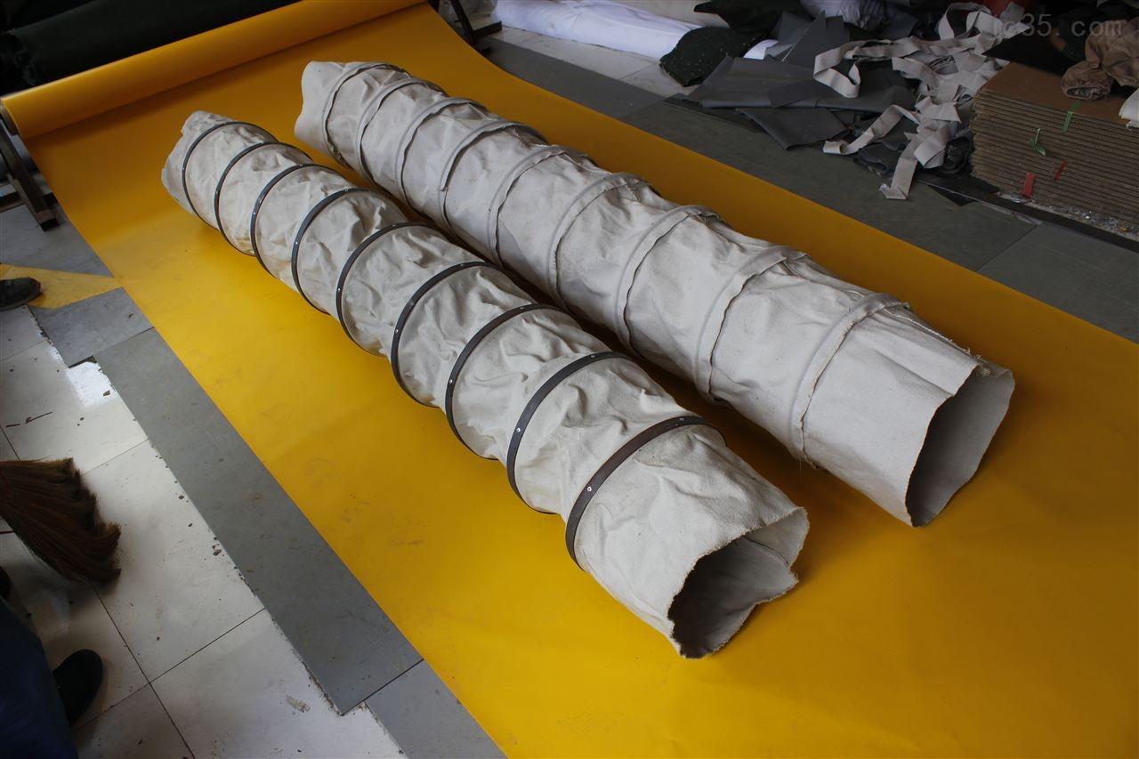 帆布伸缩软连接 手工缝制帆布伸缩软连接