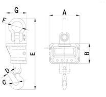 隔热吊秤OCS-15T隔热电子吊秤电磁吸盘计量称重电子秤