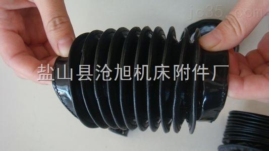 三防布钢圈组成机床丝杠防尘套