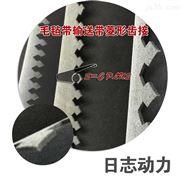 拉力布双面毛毡输送带-定制服装布料皮革激光切割机菱形齿接平整卷料毛毡输送带批发