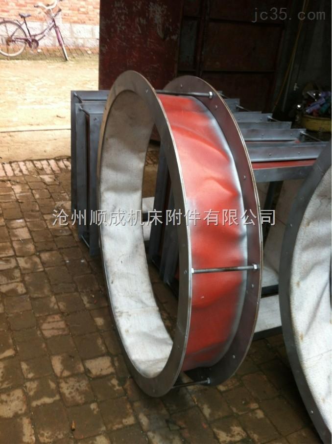 防火帆布与硅酸钛金通风软连接