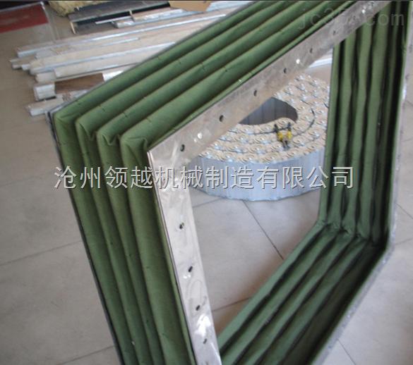 石灰粉耐磨帆布伸缩节 收尘器灰斗下料软连接