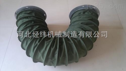 内衬钢丝耐温帆布通风软连接