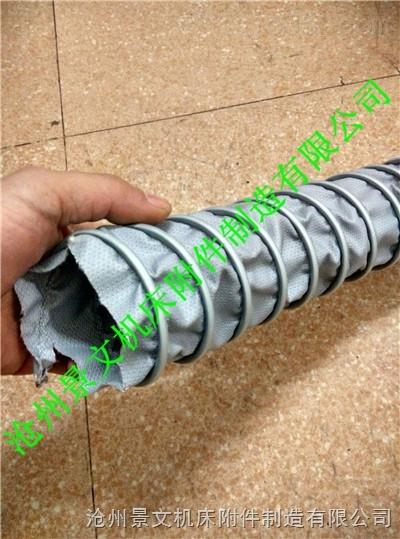 灰色硅胶布耐高温排烟伸缩软管推荐