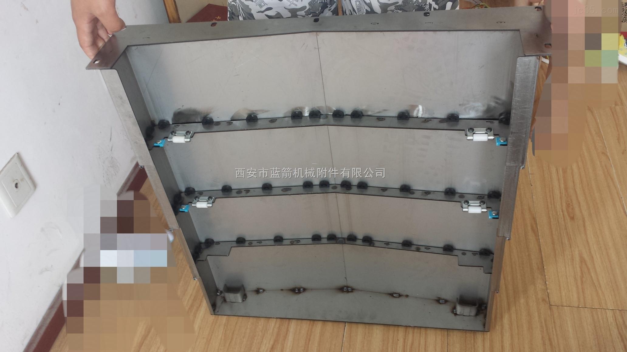 机床防护不锈钢导轨伸缩式钢板防护罩