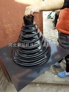 专业制作塔式圆形耐高温伸缩丝杠防护罩