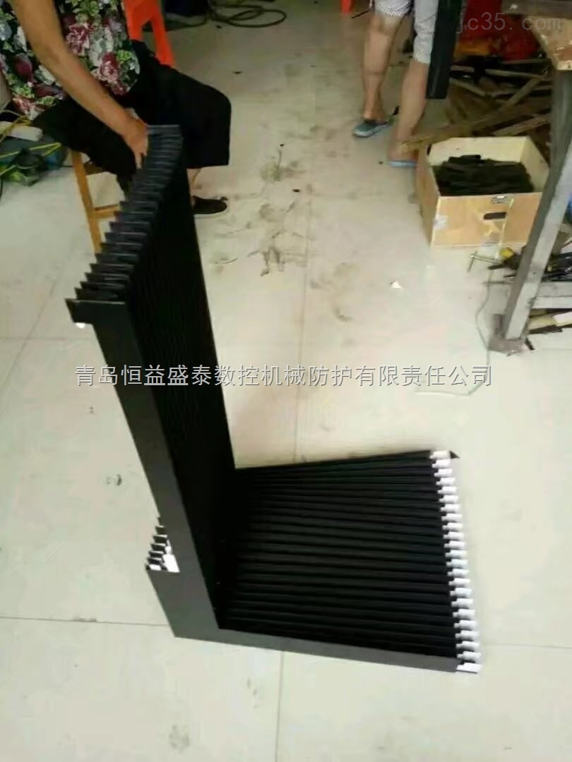 雕刻机防尘防油风琴防护罩