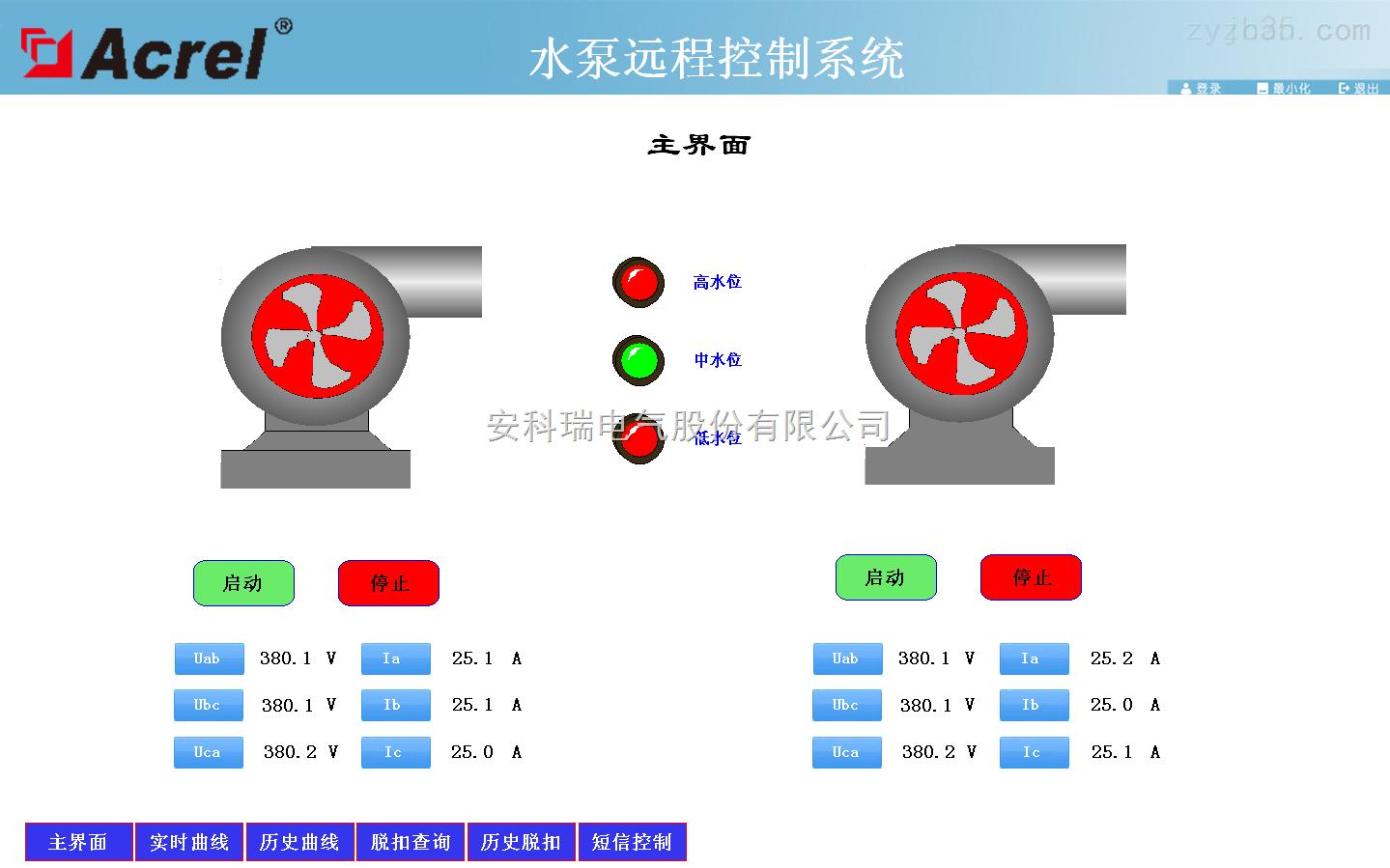 安科瑞水泵远程控制系统解决方案