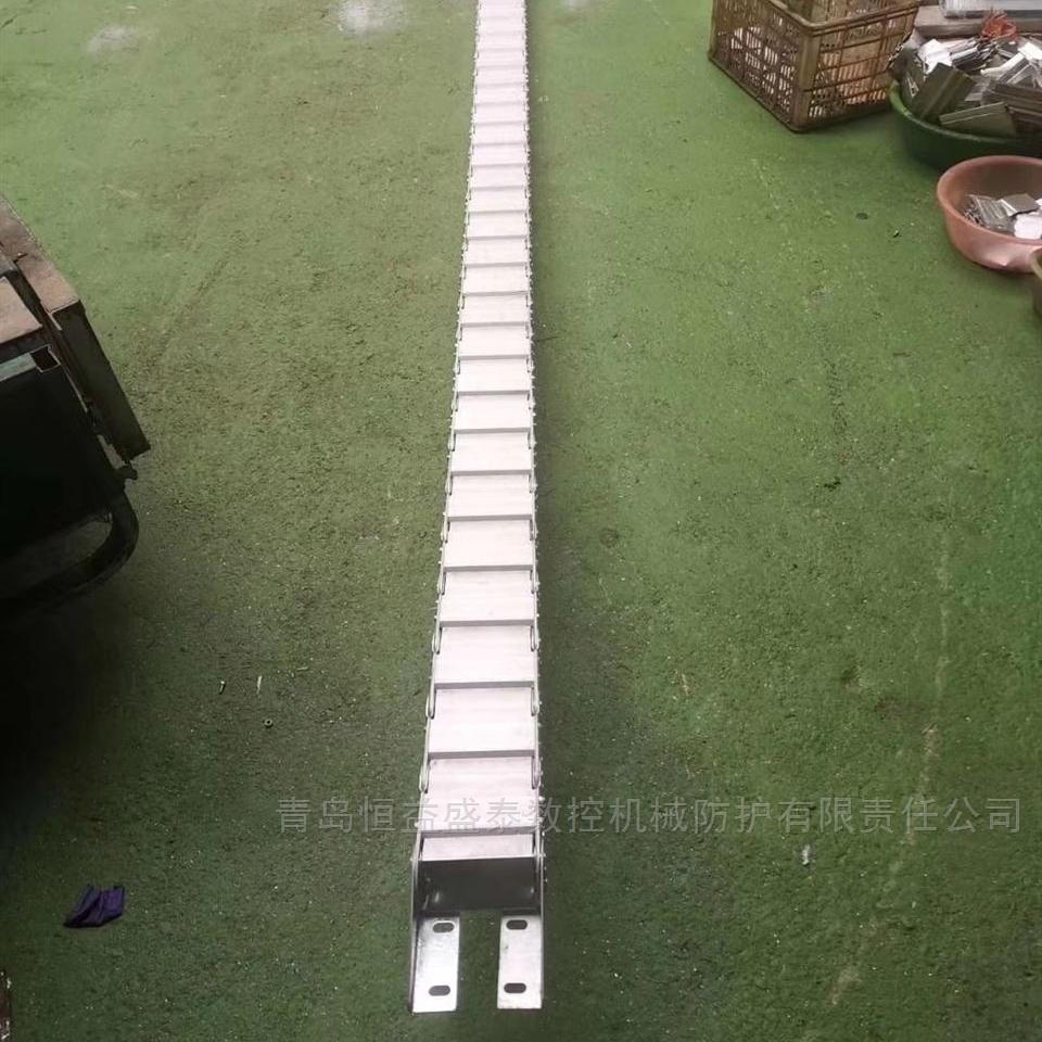加厚链片穿线钢制拖链金属封闭式钢铝拖链