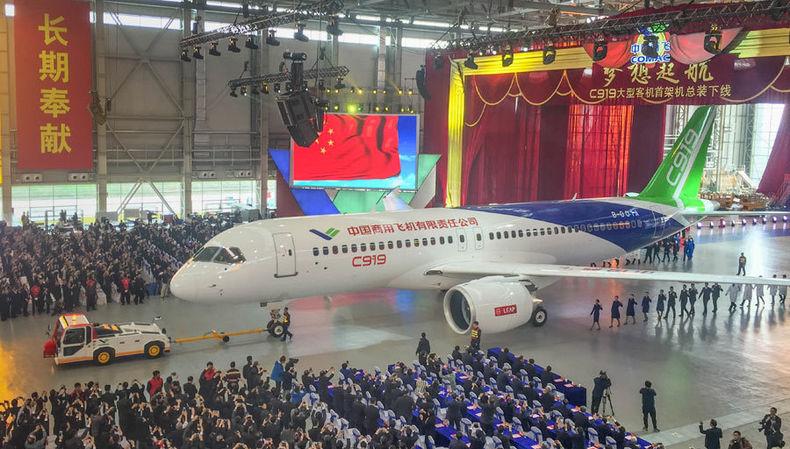 感受中国大飞机C919的独特魅力