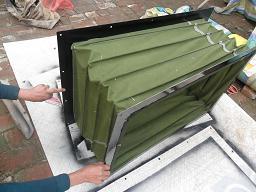 方形硅胶布高温风口软连接产品图