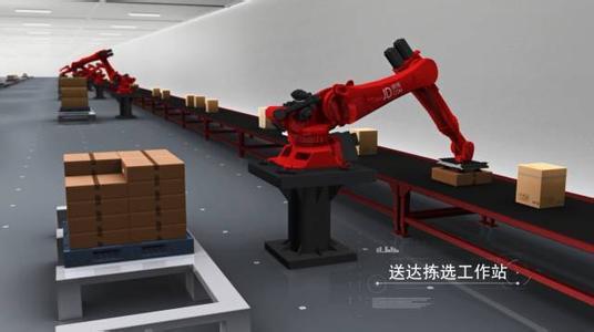 京东智慧物流实验室首次亮相 六大机器人面世